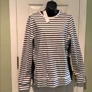 Long Tall Sally Black and White Striped Shirt